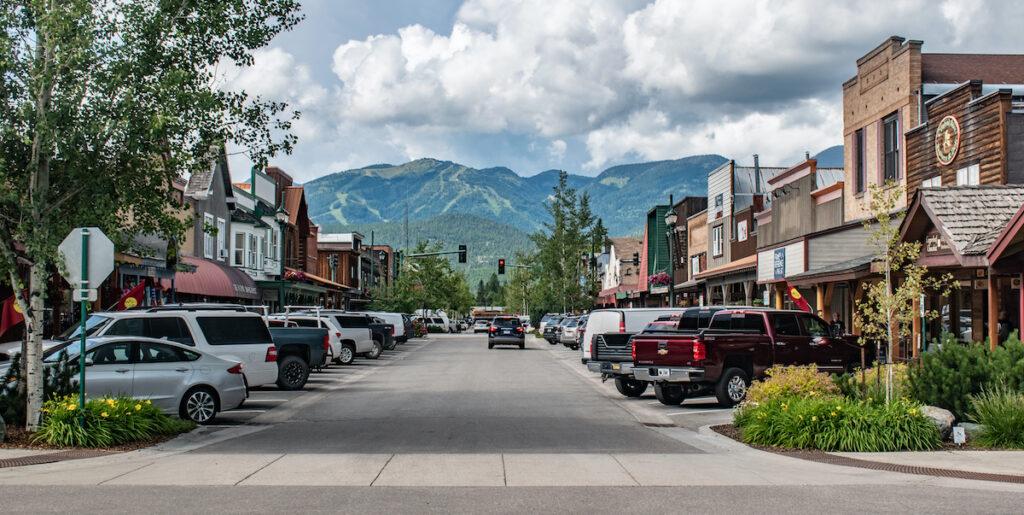 Main Street Whitefish, Montana.