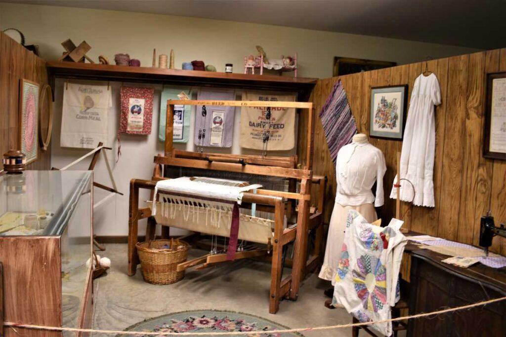 Barton County Historical Society Museum - Textile Exhibit.