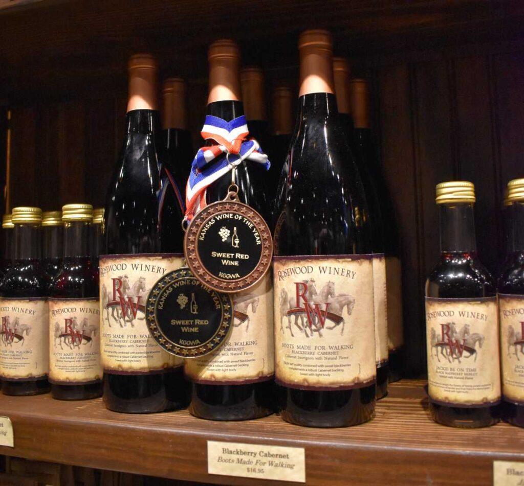 Rosewood Wine Cellar in Great Bend, Kansas.