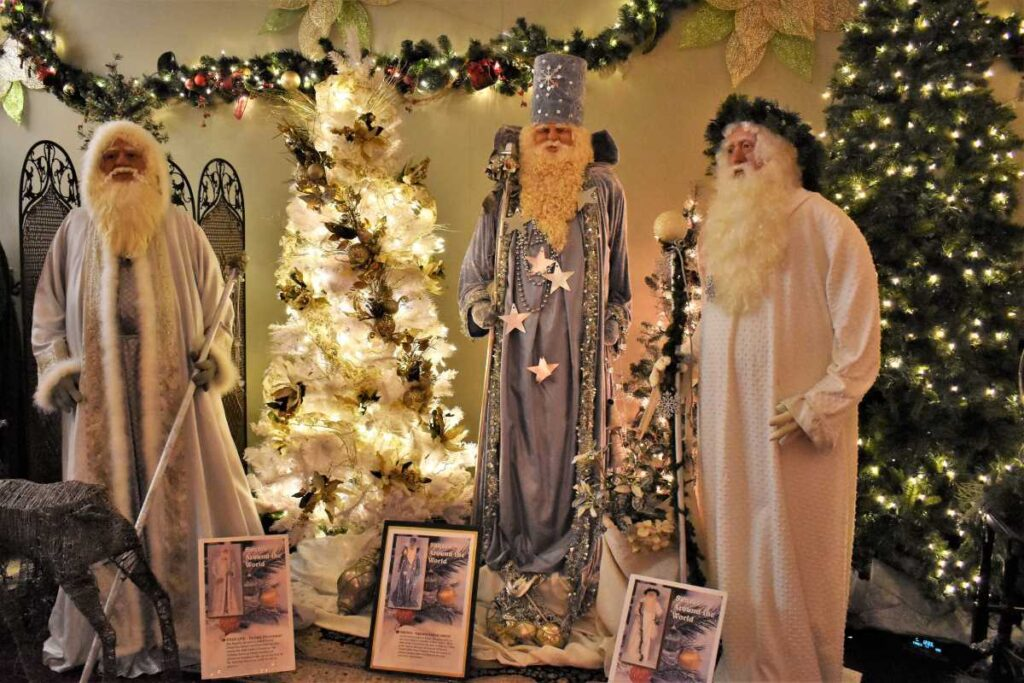 Santas around the World in Great Bend, Kansas.