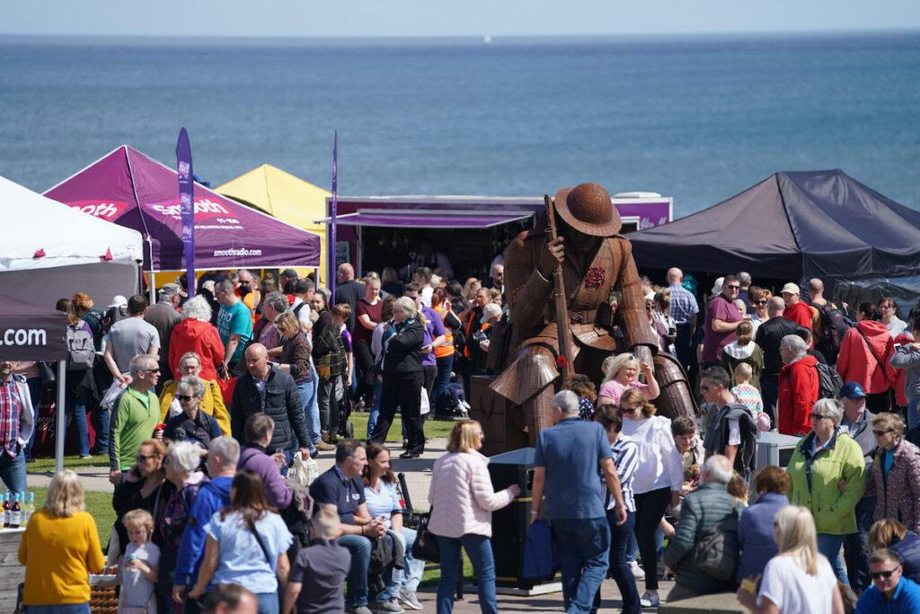 Seaham Food Festival in Durham, UK.