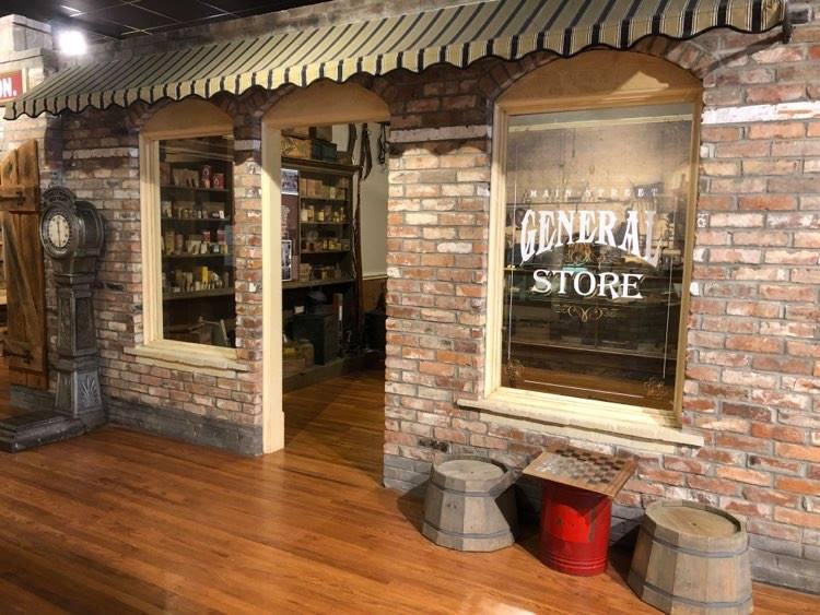 The Museum, South Carolina, general store display.
