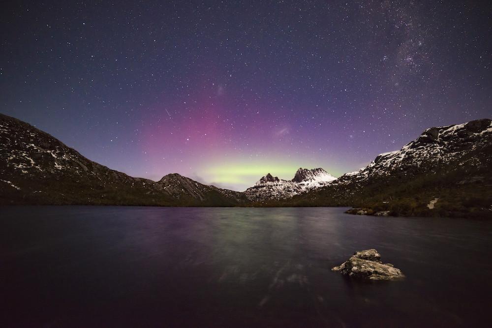 Aurora Australis over Cradle Mountain, Cradle Mountain -Lake St Clair National Park, Tasmania