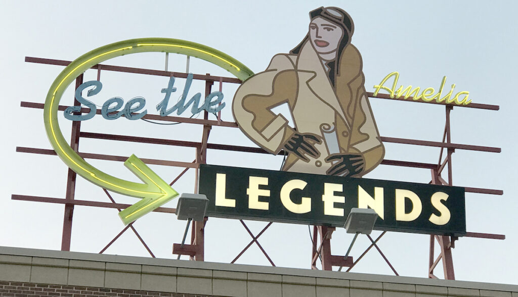A mural at the Legends Outlets.