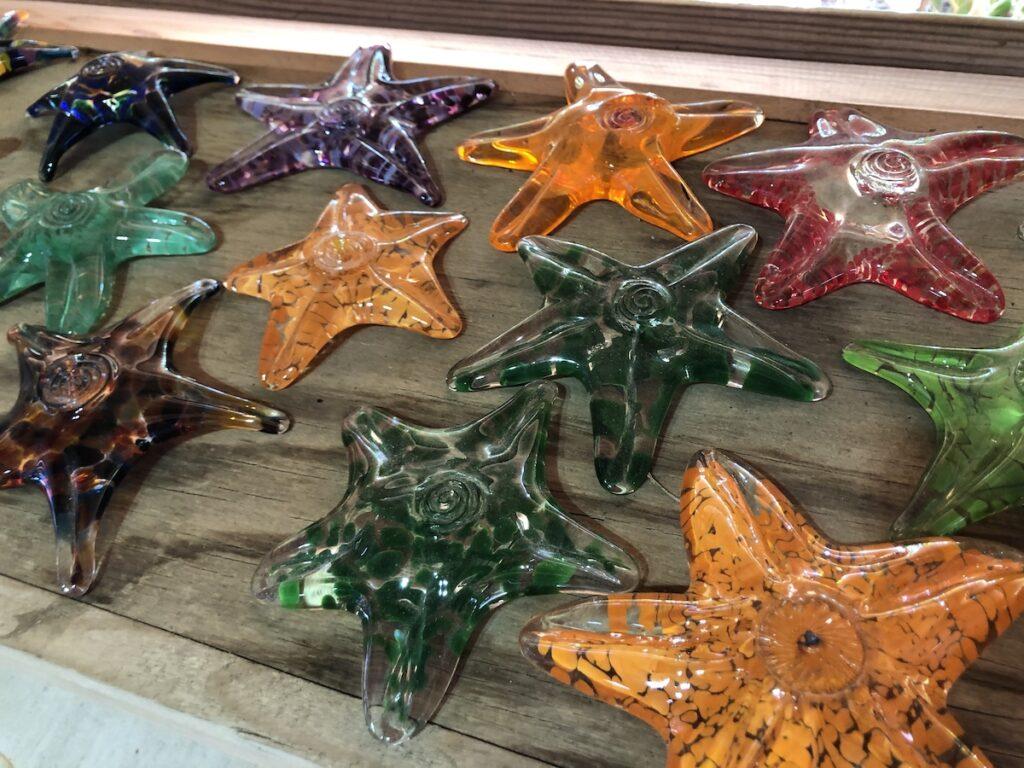 Glass starfish, Coastal Arts Center at Orange Beach.