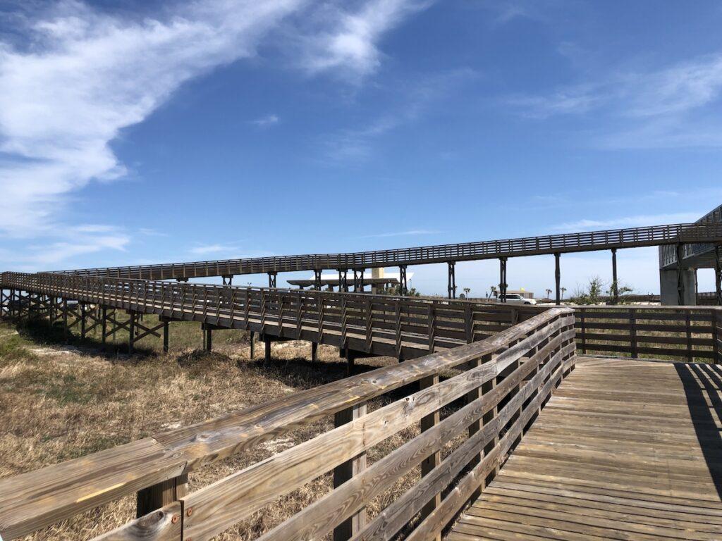Boardwalk in Gulf State Park, Alabama.