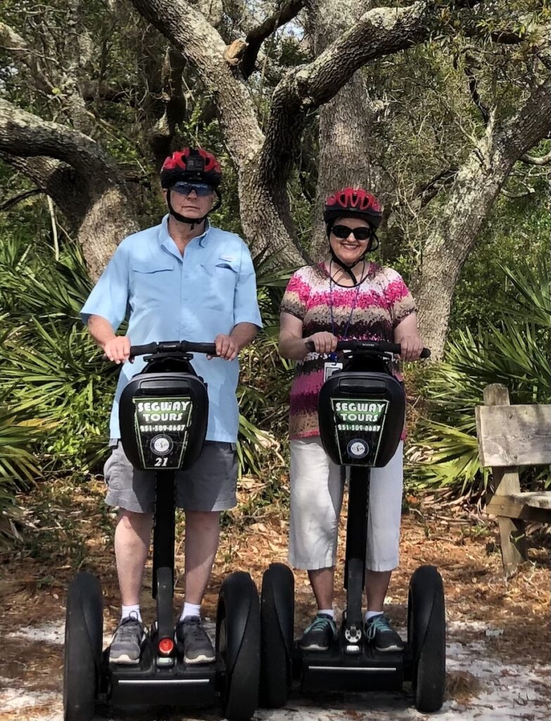 The author on a Segway tour in Gulf Shores.