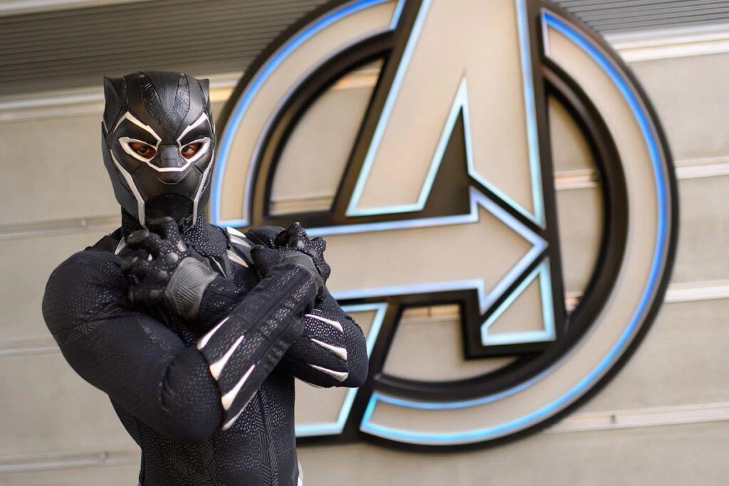 Black Panther at Disneyland.