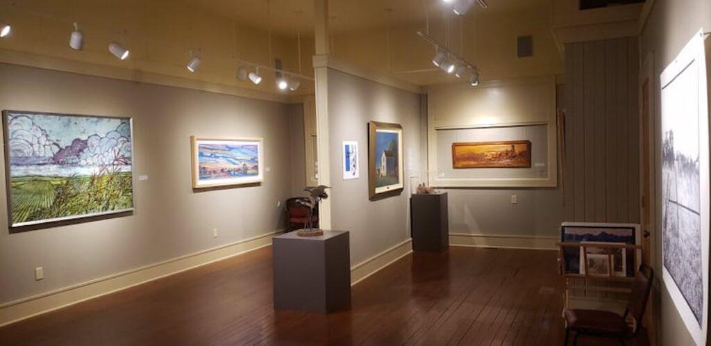 Gallery at Bone Creek Museum of Agrarian Art.