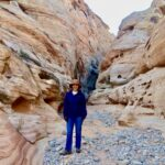 Hiking at Valley of Fire State Park.
