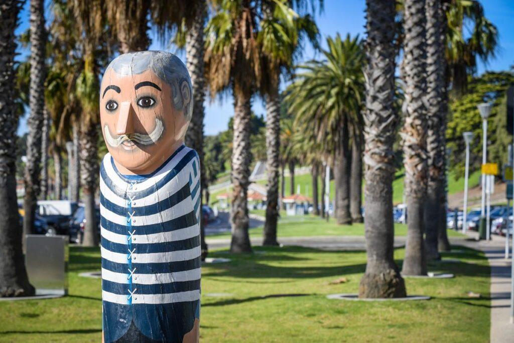 Sculpture, Bollards Sculpture Walk, Geelong.