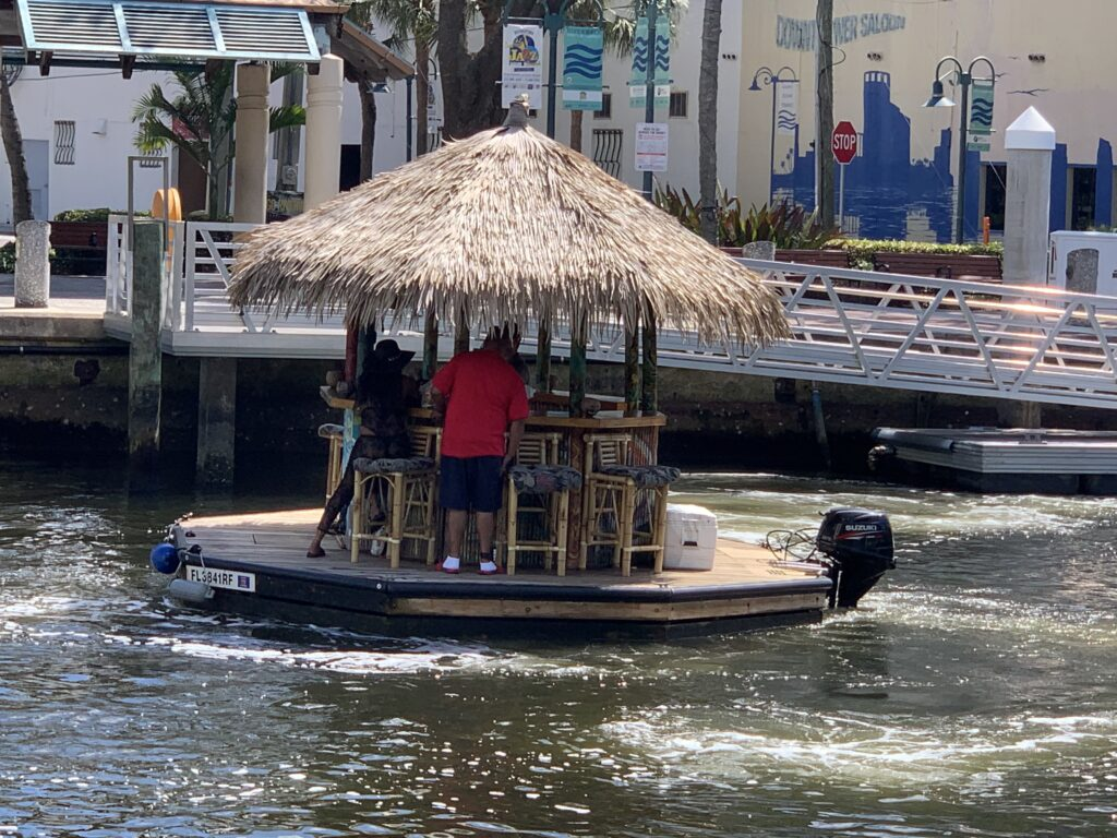 A tiki cruise in Fort Lauderdale.