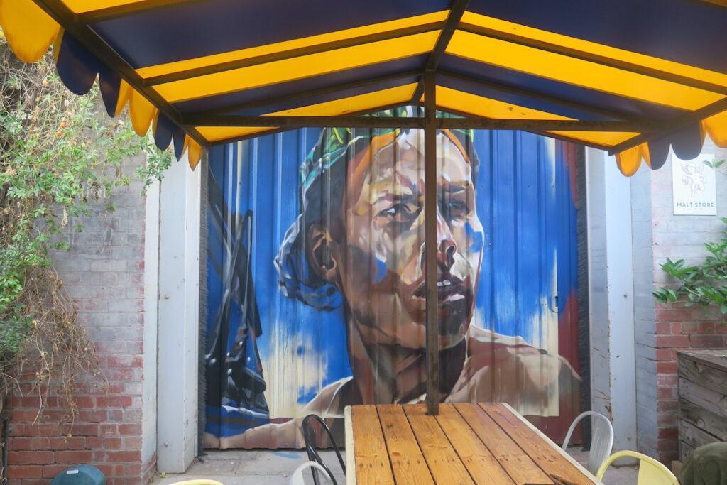 Street art at Little Creatures Brewery, Geelong, Victoria, Australia.