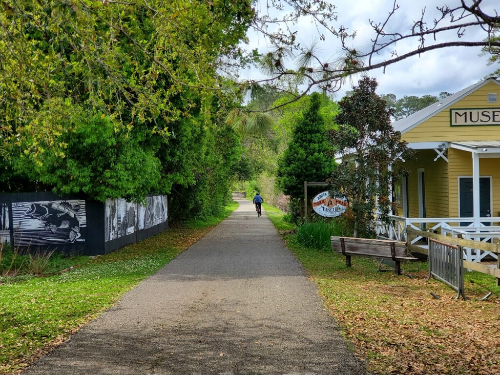 The Tammany Trace biking and walking trail, Louisiana.