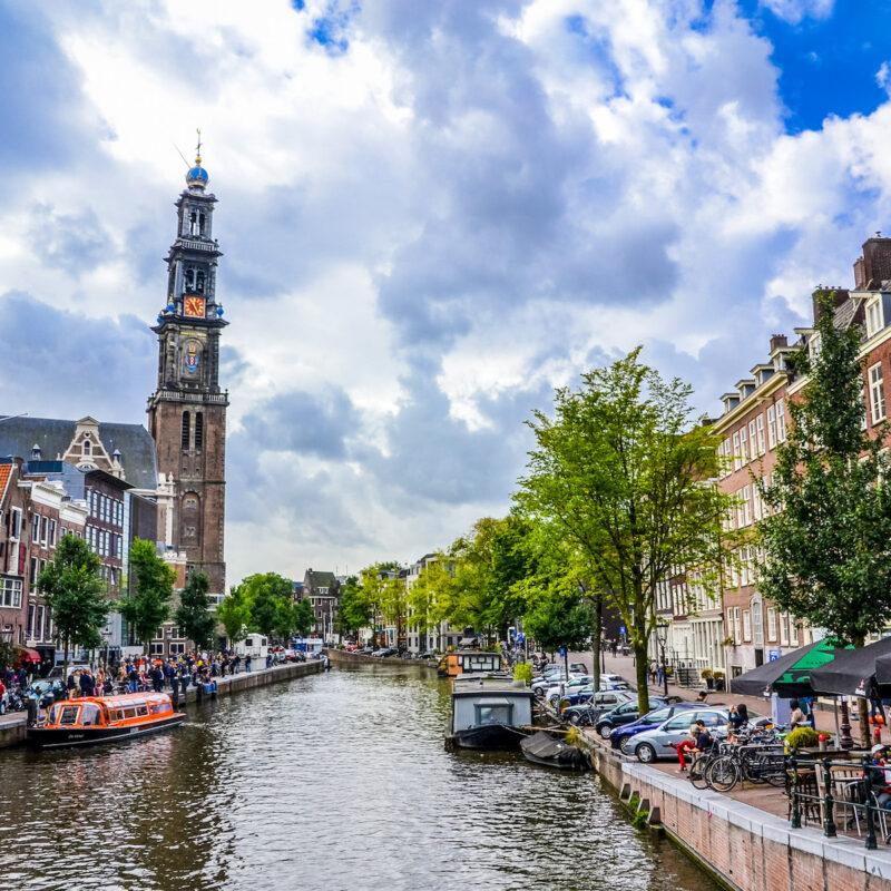 Anne Frank House Neighborhood In Amsterdam