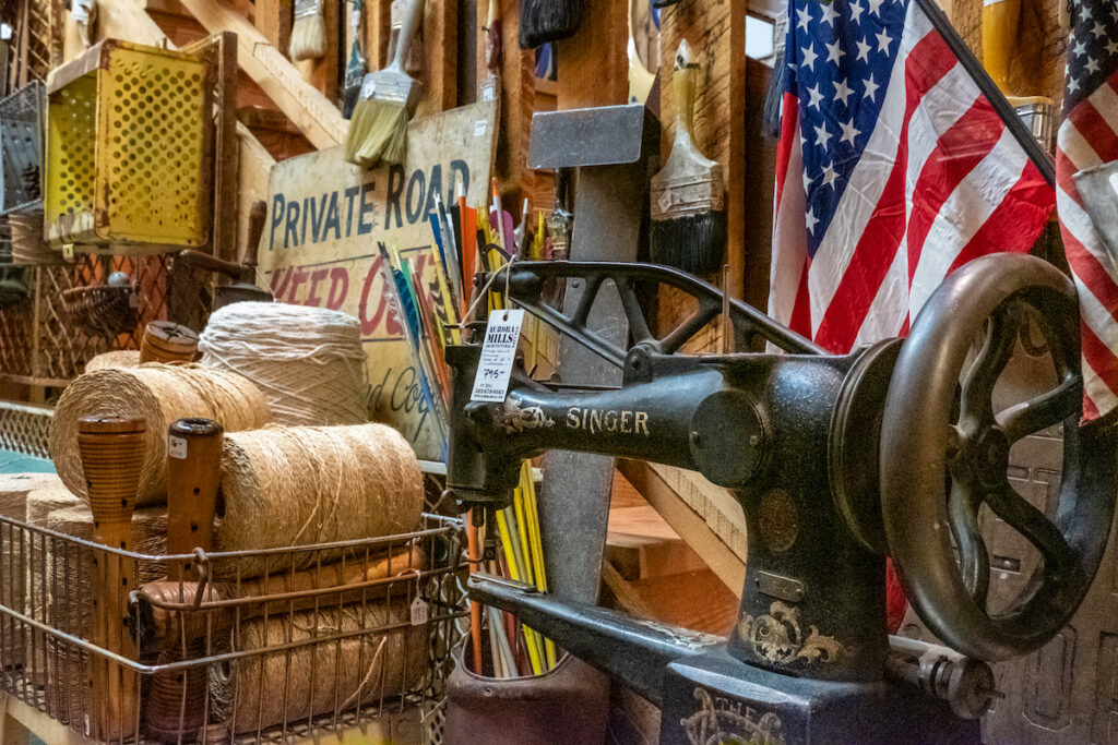Aurora Mills Architectural Salvage, antique shop in Aurora, Oregon.