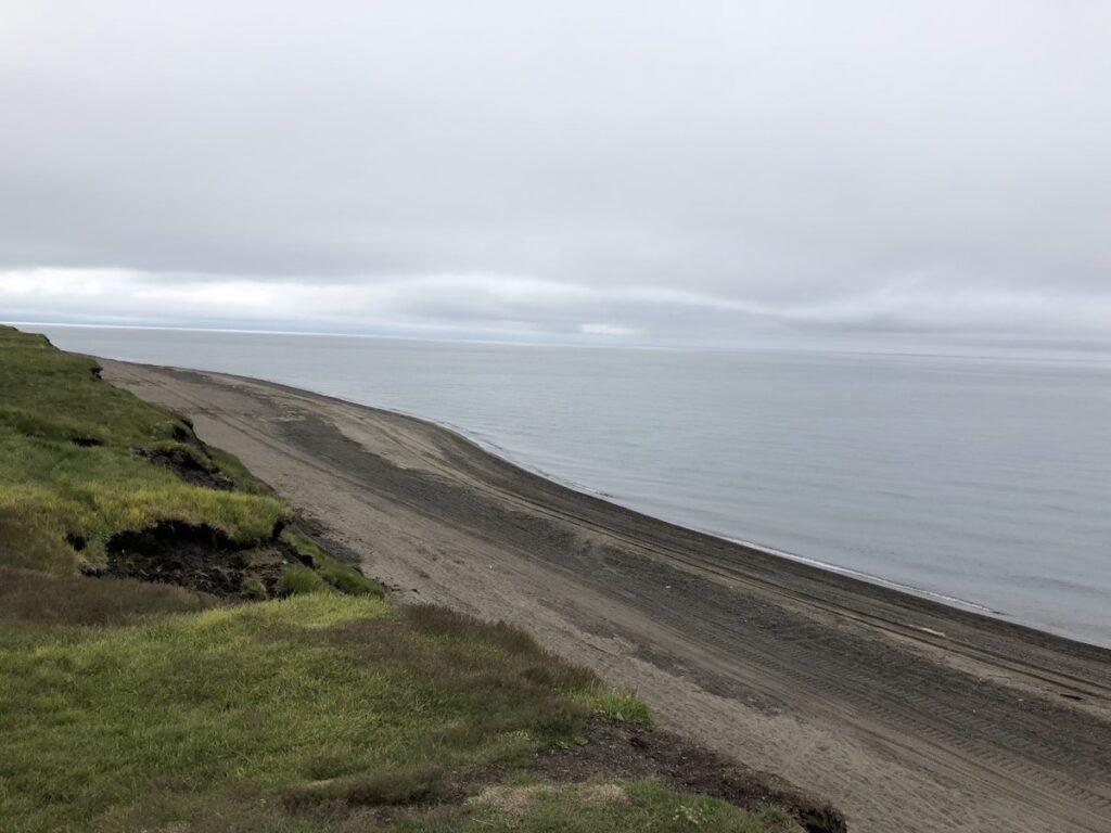 The shoreline in Utqiagvik, Alaska.