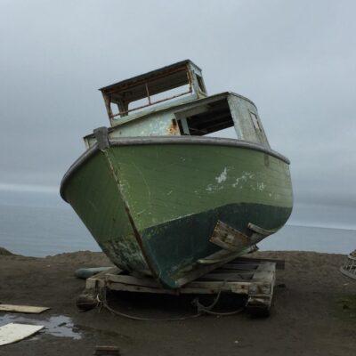 A boat in Utqiagvik, Alaska.