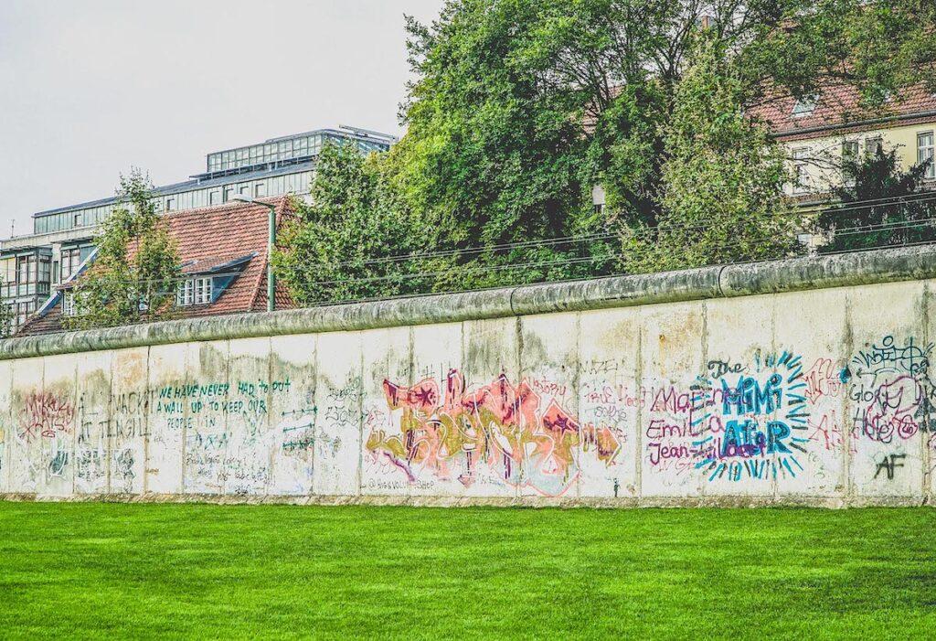 Graffiti on the Berlin Wall.