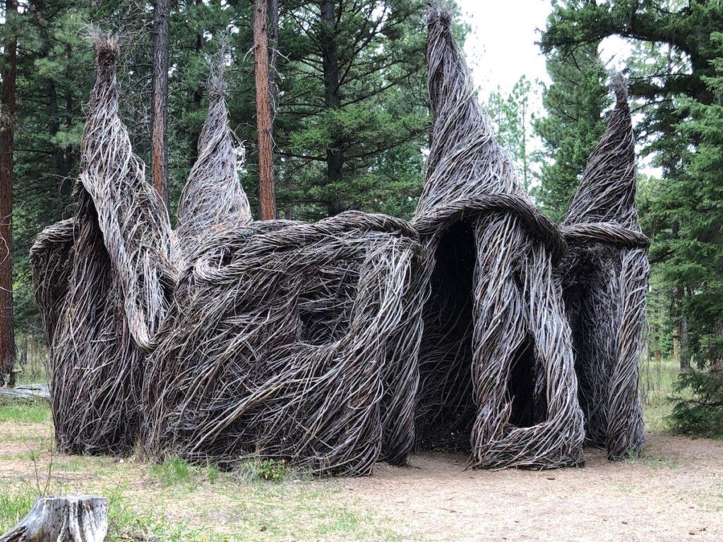 Enterable sculpture at Blackfoot Pathways in Montana.