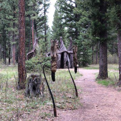 Artwork at Blackfoot Pathways in Montana.