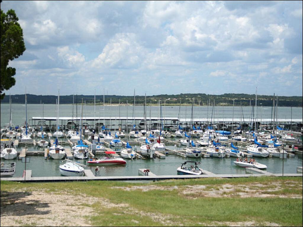 Canyon Park Marina in Canyon Lake, Texas.