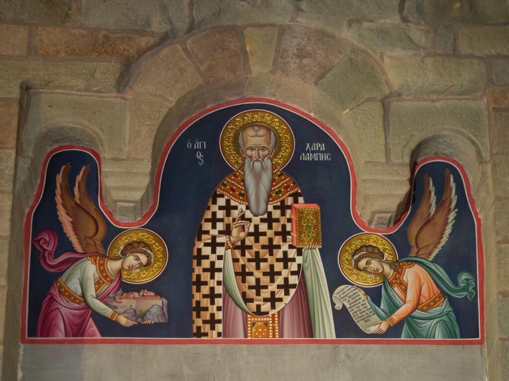 Εξωτερικές τοιχογραφίες στο Μοναστήρι του Αγίου Στεφάνου.