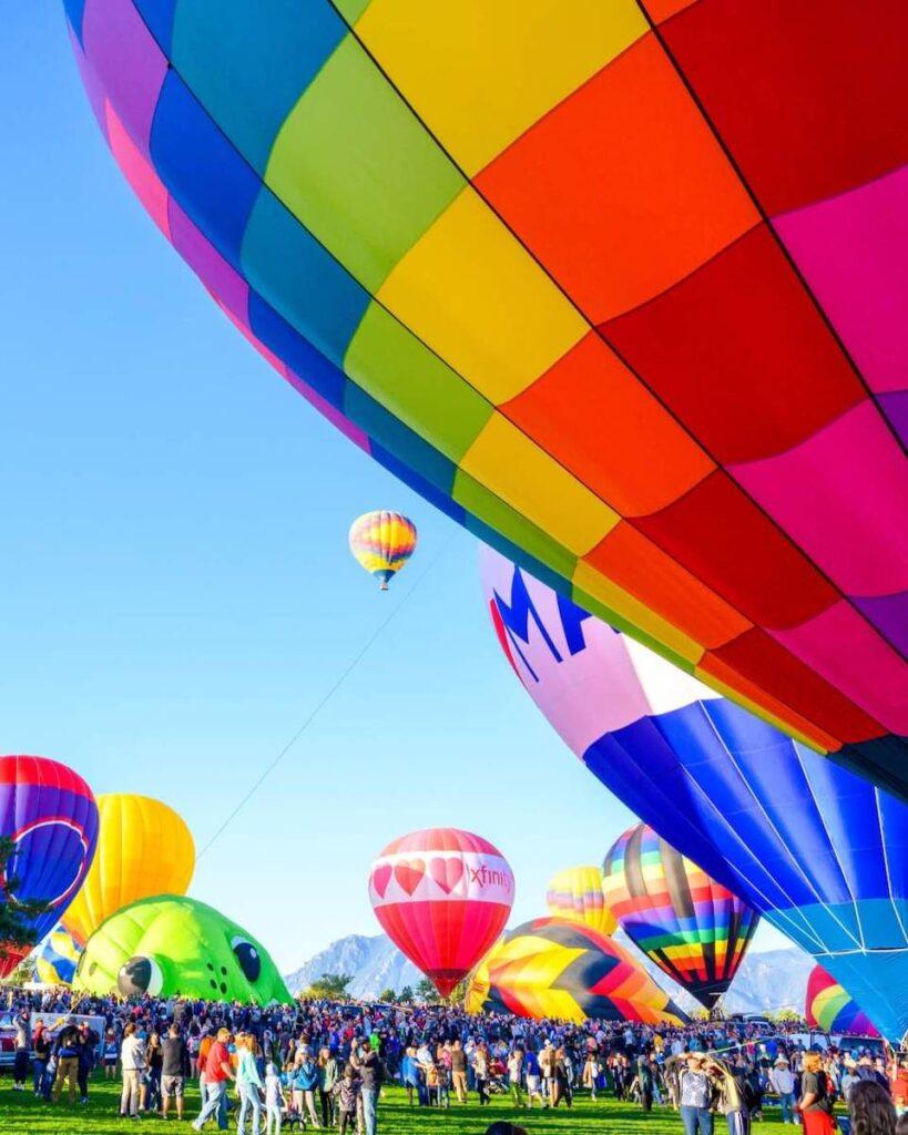 Balloons in Colorado Springs.