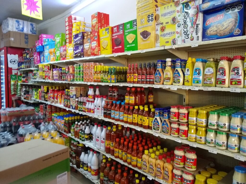 Condiment section of Mexico.