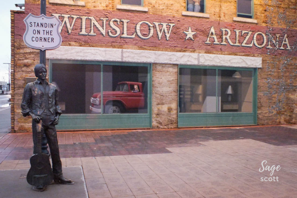 Iconic Winslow, Arizona.