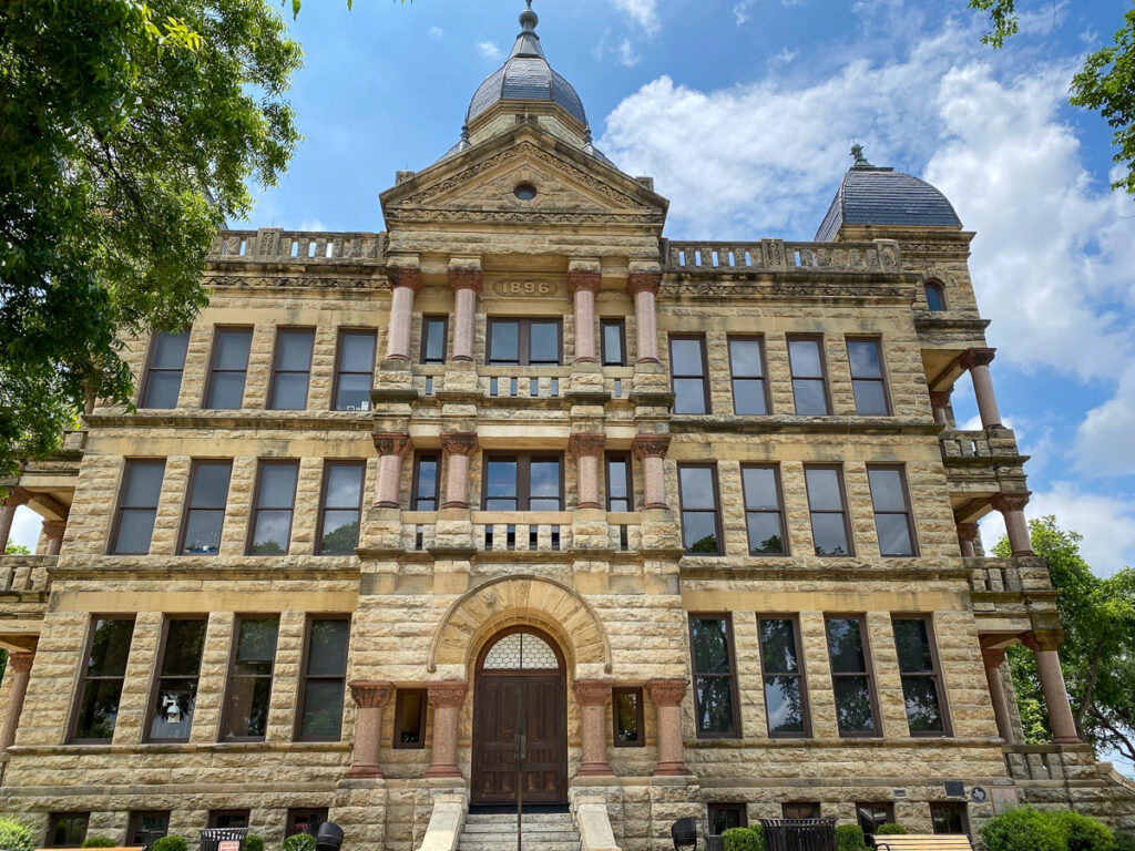 The courthouse in Denton, Texas.