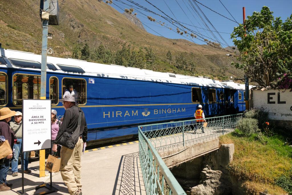 Hiram Bingham Train in Machu Picchu.