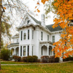 Independence, MO in the fall at Harry S. Truman's home