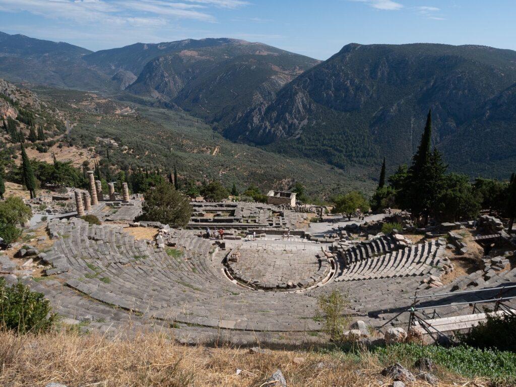 Delphi's amphitheater.