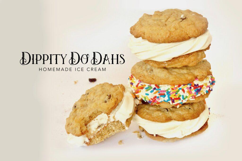 Dippity Do Dahs Homemade Ice Cream Corning, New York cookie ice cream sandwiches