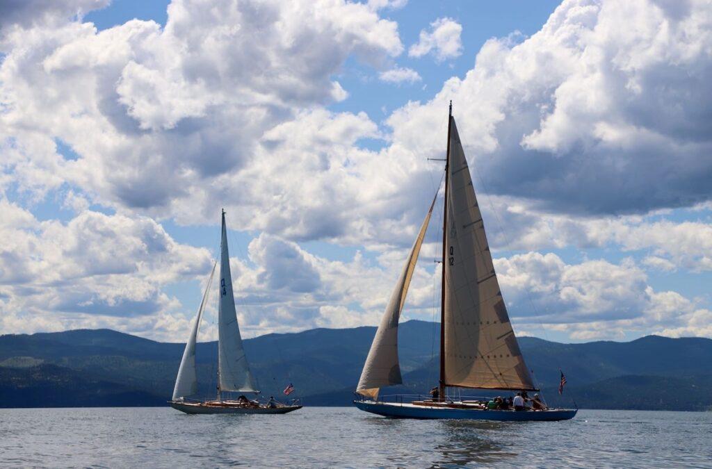 Sailboats on Flathead Lake in Montana.