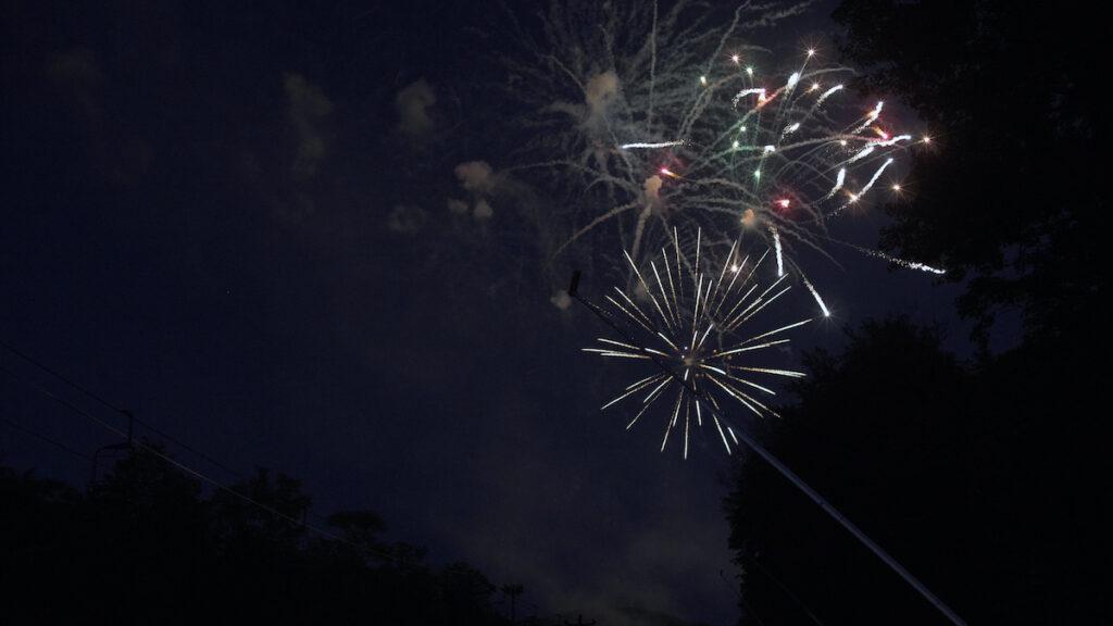 Fireworks display, Burlington's Independence Day Celebration.