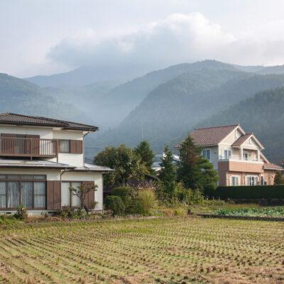 Homes in Fujikawaguchiko, Japan.