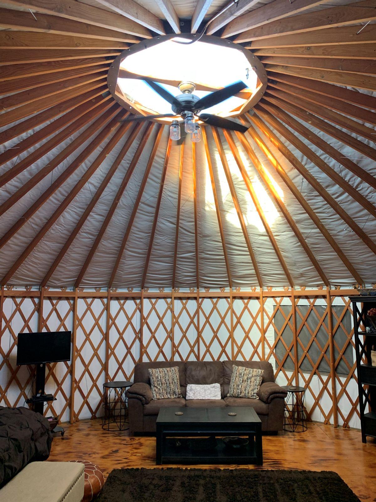 Indoor Glamping Yurt at Paradise Cove