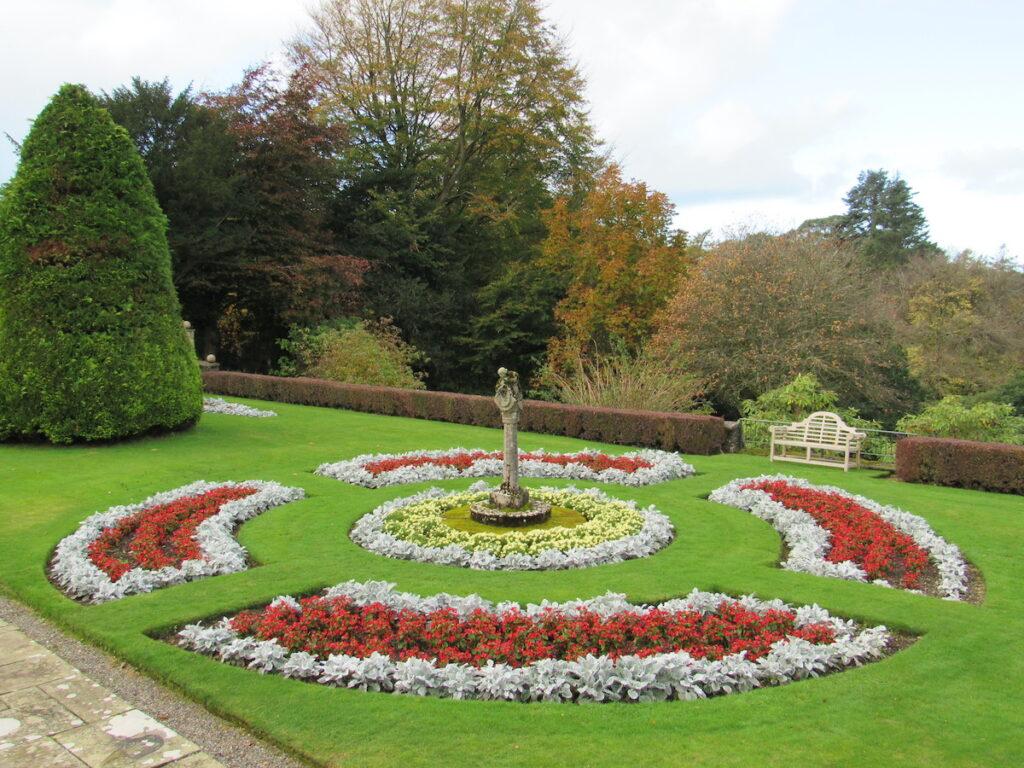 Italian Garden at Glenapp Castle.