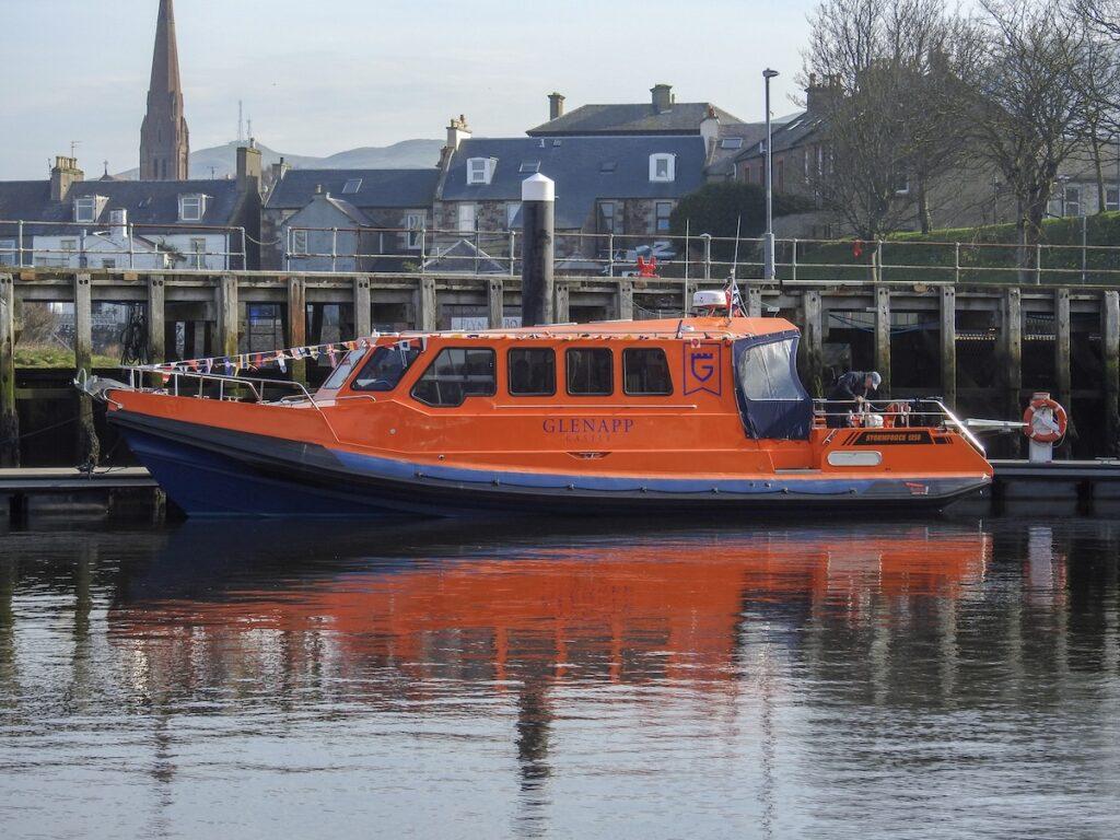 Glenapp Castle boat.
