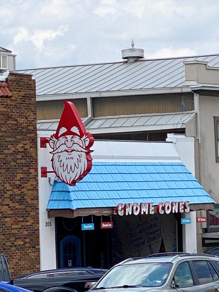 Gnome Cones in Denton, TX.