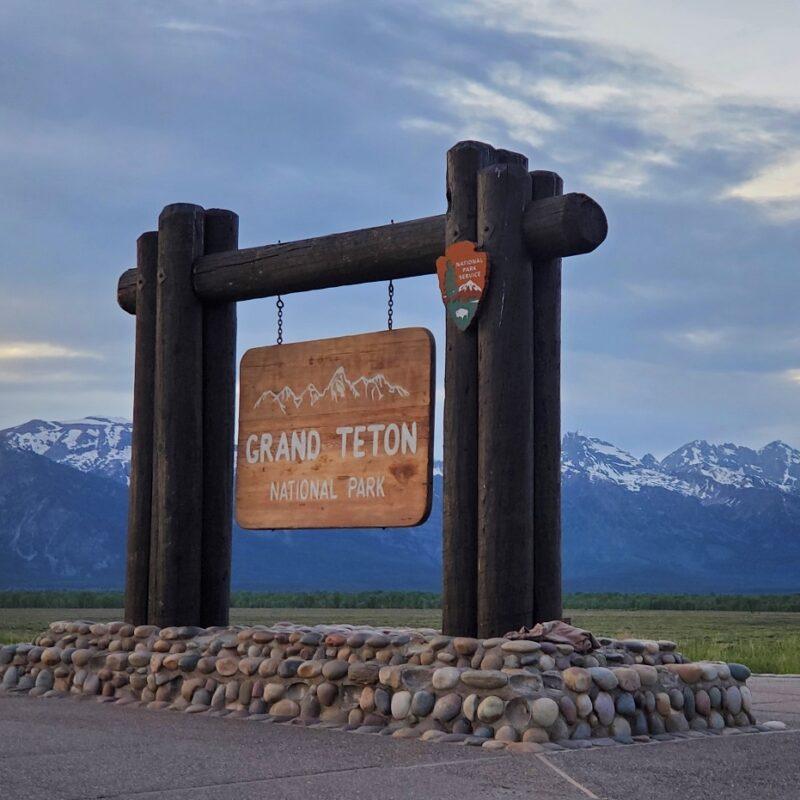 Grand Teton National Park Entrance Sign - Teresa Otto