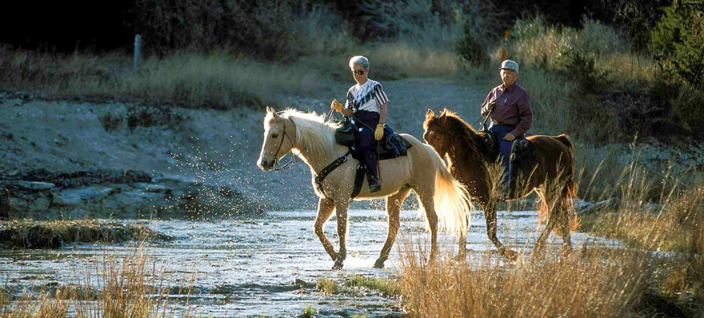 Horseback riding, Hill Country State Natural Area.