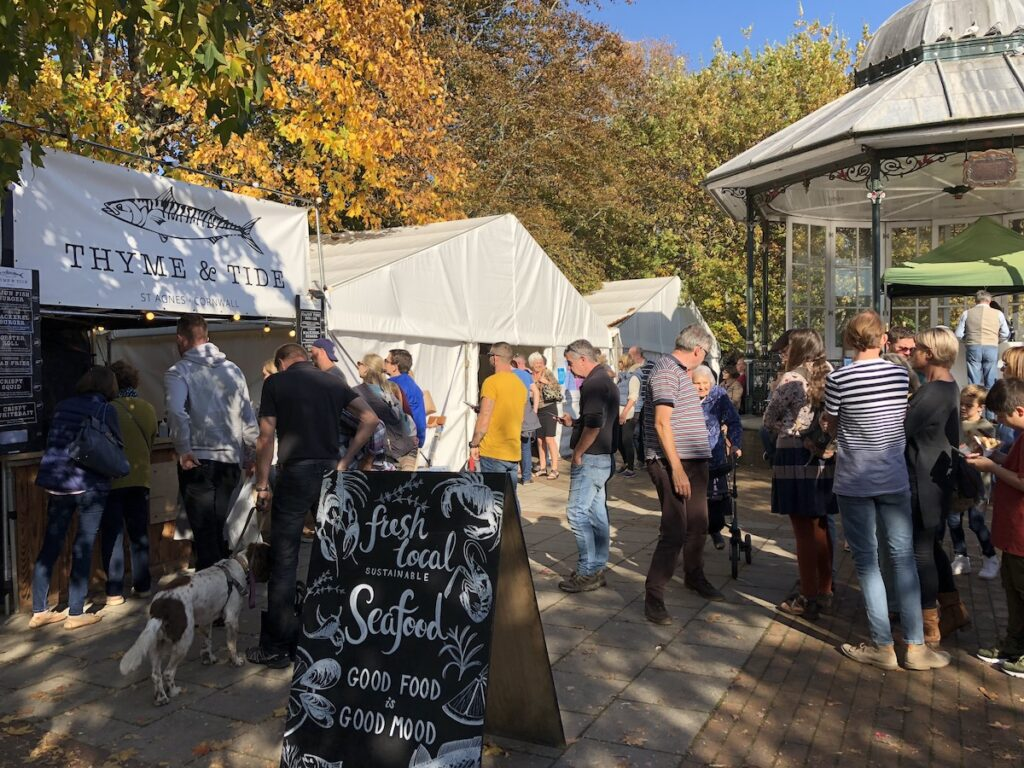 Dartmouth Food Festival in the UK.