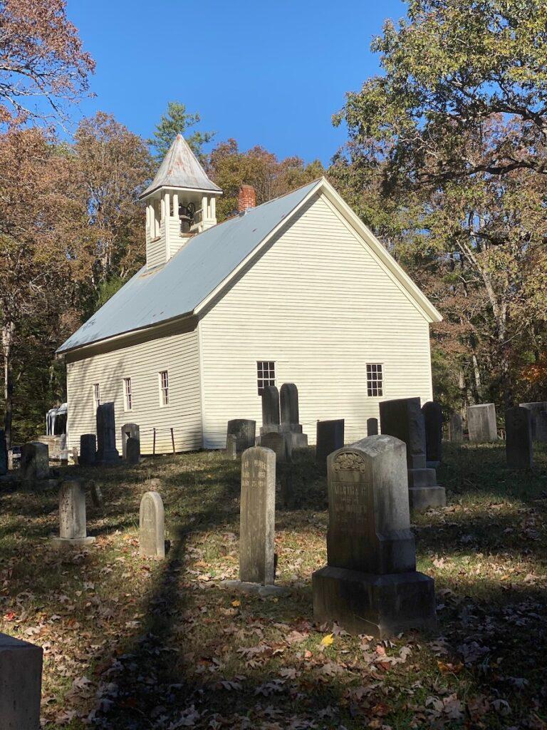 Historic church off Cades Cove Loop.