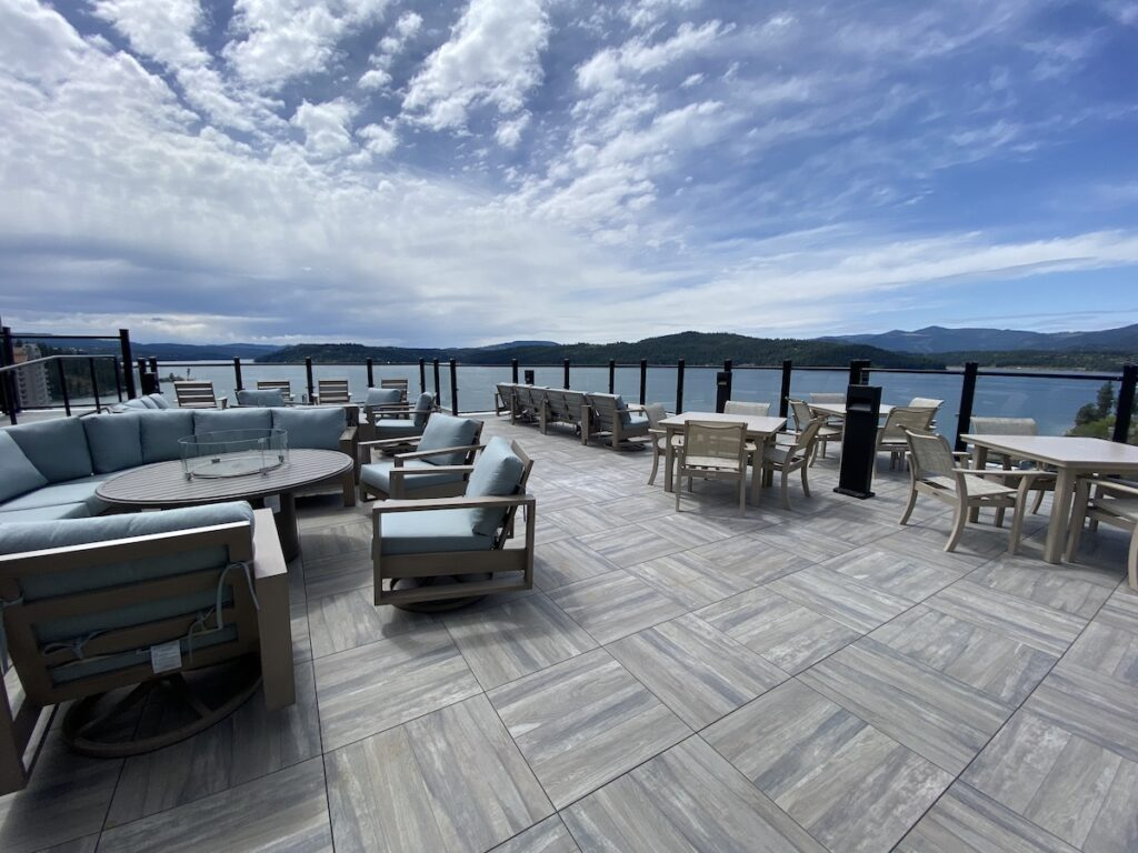 The terrace at One Lakeside.