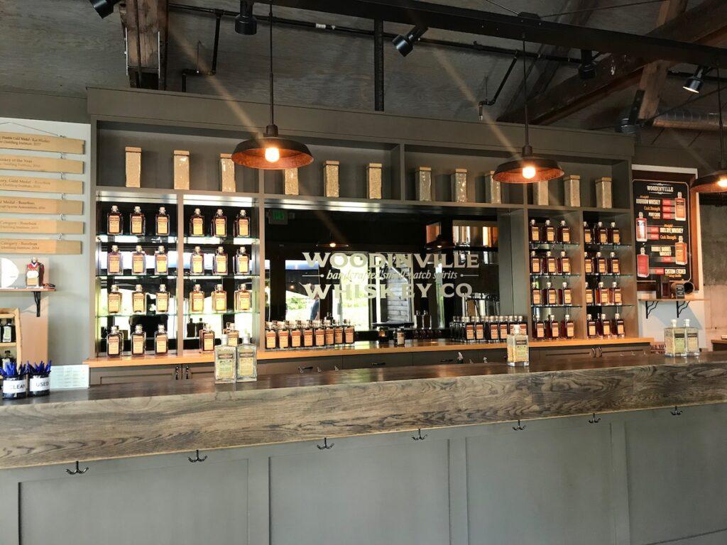 Woodinville Whiskey Company's bar.