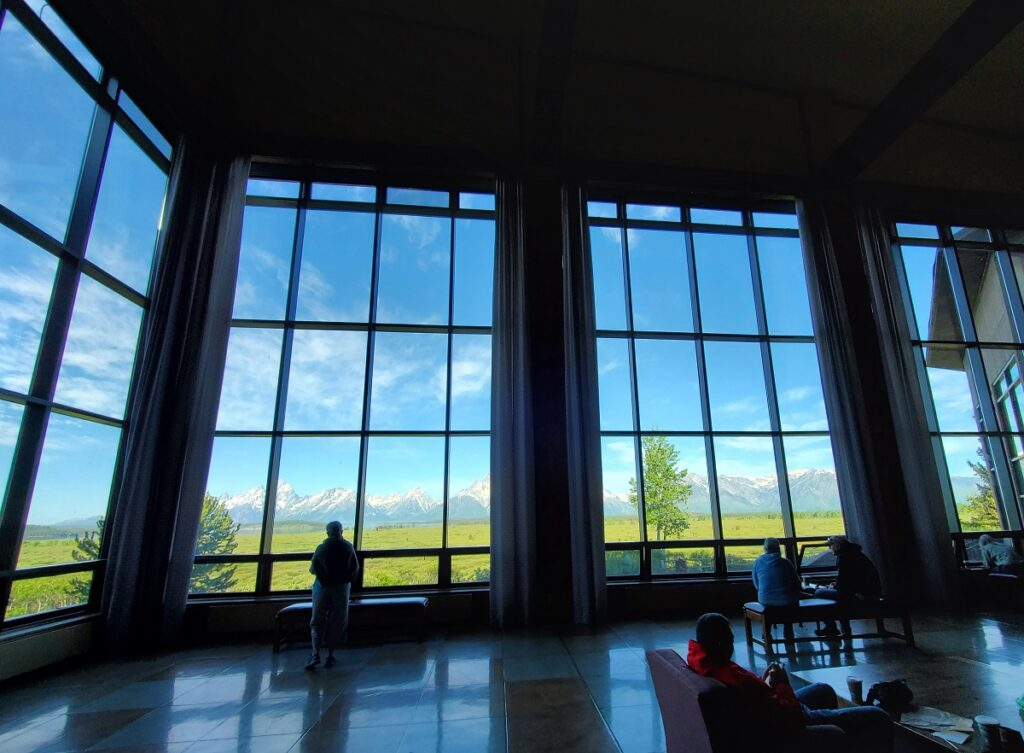 The lobby of Jackson Lake Lodge