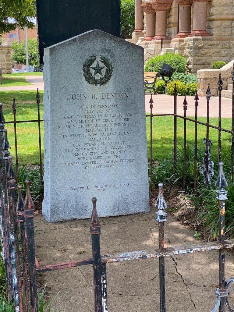 John Denton's gravesite.